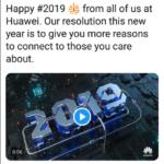 Huawei、iPhoneで「2019年おめでとう」とツイートした社員を処罰へ