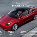 Tesla Japan、モデル3へデュアルモーターAWDロングレンジモデルを追加へ!ホワイトエクステリアが無料化