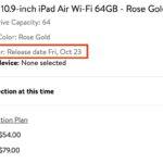 iPad Air 4、10月23日販売開始か-米Walmartで予約受付を開始へ