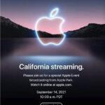 Apple、9月14日にイベントを開催-iPhone 13を発表か。iPadはどうなる?